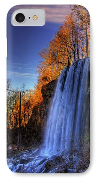 Falling Spring Falls IPhone Case by Steve Hurt