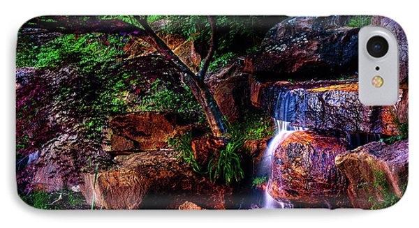 Falling Water At Honor Heights Park IPhone Case by Tamyra Ayles