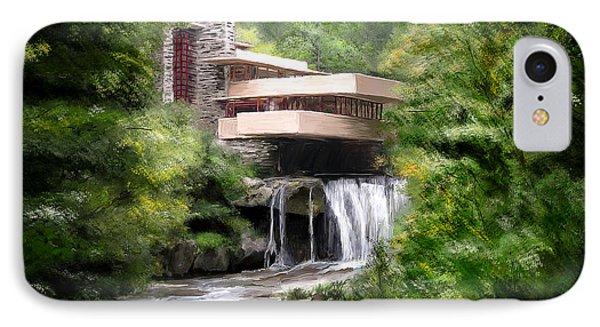 Fallingwater - Frank Lloyd Wright IPhone Case by Scott Melby