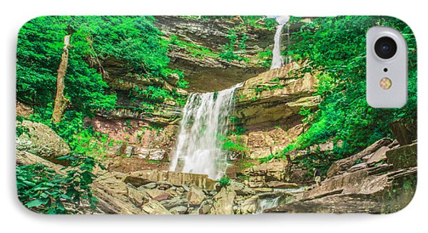 IPhone Case featuring the photograph Falling Waters by Paula Porterfield-Izzo