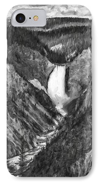 Falling Yellowstone IIi IPhone Case by Jon Glaser