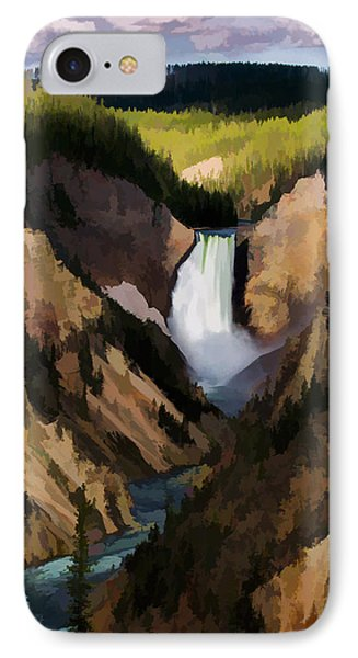 Falling Yellowstone  Iv IPhone Case by Jon Glaser