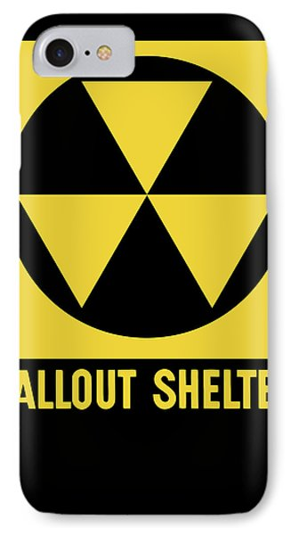 Fallout Shelter Sign Phone Case by War Is Hell Store