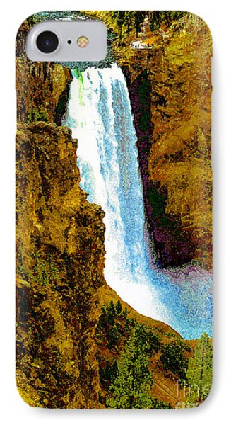 Falls Of The Yellowstone Phone Case by David Lee Thompson