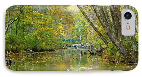 IPhone Case featuring the photograph Falls Road Bridge Over The Gunpowder Falls by Donald C Morgan