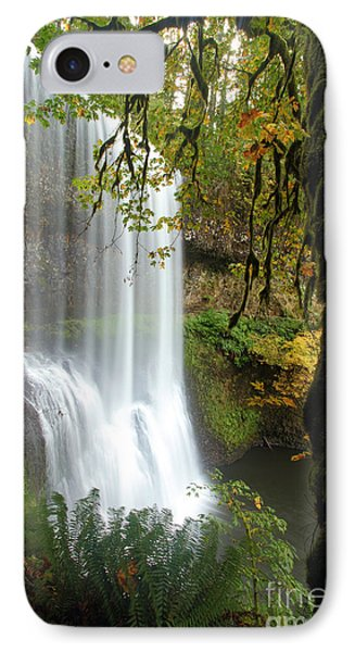 Falls Though The Trees IPhone Case by Adam Jewell