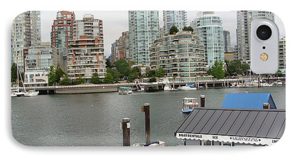 IPhone Case featuring the painting False Creek Vancouver by Rod Jellison