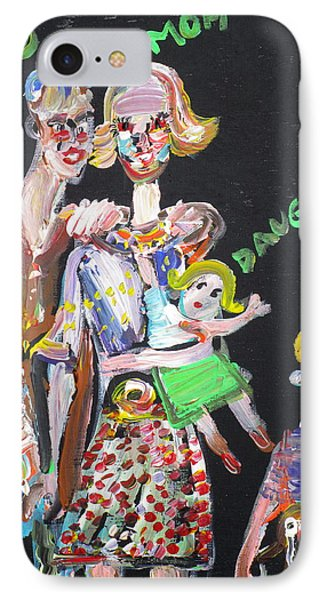 IPhone Case featuring the painting Family Day by Fabrizio Cassetta
