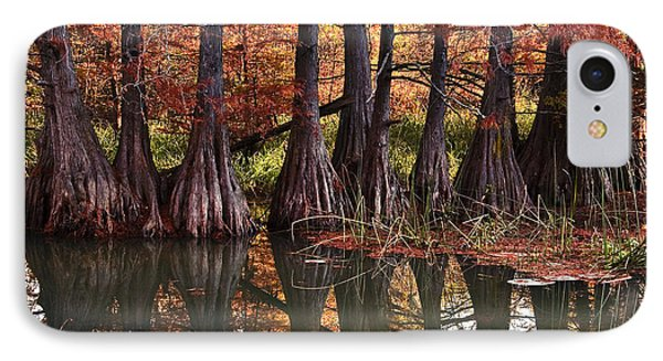 IPhone Case featuring the photograph Family Of Cypress At Lake Murray by Tamyra Ayles