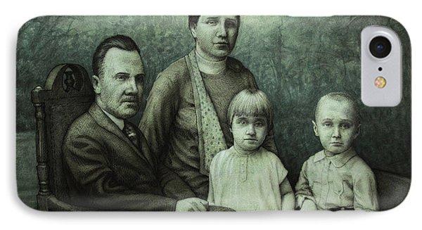 Family Portrait Phone Case by James W Johnson