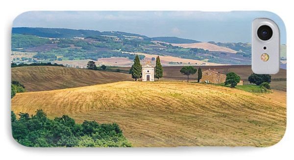 Famous Chapel On Tuscan Hills IPhone Case by JR Photography