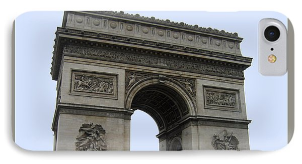Famous Gate Of Paris - Arc De France IPhone Case by Suhas Tavkar