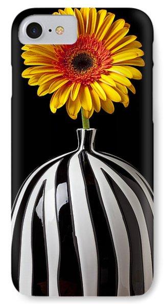 Fancy Daisy In Stripped Vase  Phone Case by Garry Gay