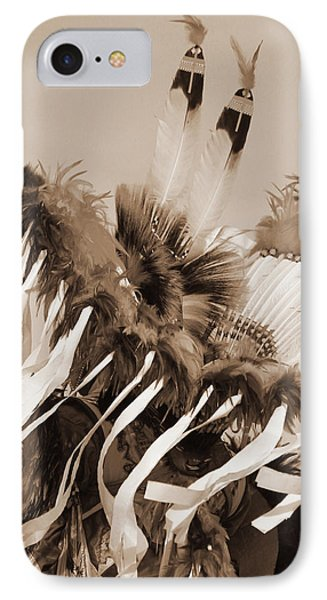 IPhone Case featuring the photograph Fancy Dancer In Sepia by Heidi Hermes