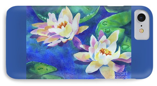 IPhone Case featuring the painting Fancy Waterlilies by Kathy Braud