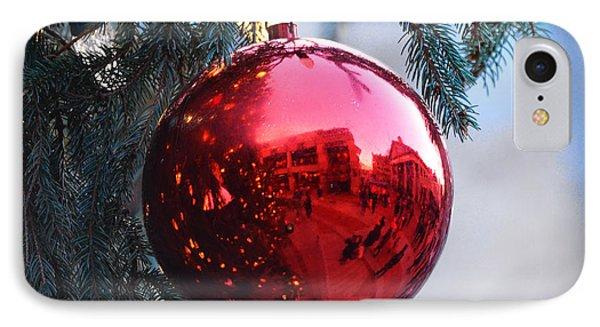 Faneuil Hall Christmas Card Boston Ma 2 IPhone Case by Toby McGuire