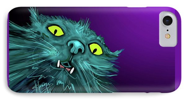 IPhone Case featuring the painting Fang Dizzycat by DC Langer