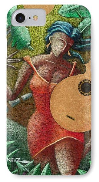 Fantasia Boricua IPhone Case by Oscar Ortiz