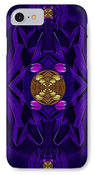 Fantasy Decorative Florals In Leather Landscape IPhone Case