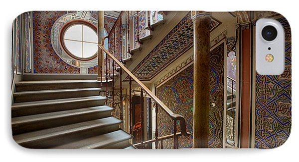 Fantasy Fairytale Palace - The Stairs IPhone Case by Dirk Ercken