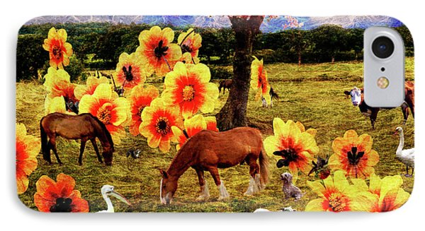 Fantasy Farm IPhone Case by Judi Saunders