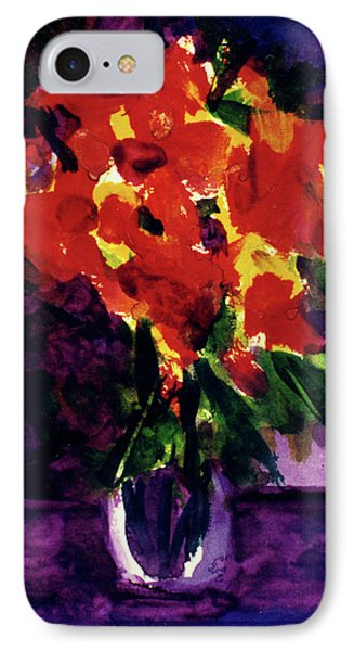 Fantasy Flowers  #107, Phone Case by Donald k Hall