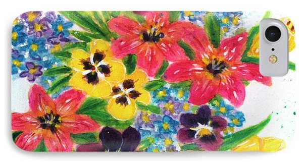 Fantasy Flowers #233 Phone Case by Donald k Hall