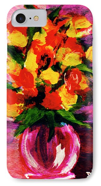 Fantasy Flowers Still Life #118, Phone Case by Donald k Hall