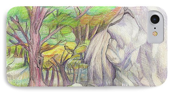 Fantasy Forest Rock Phone Case by Ruth Renshaw