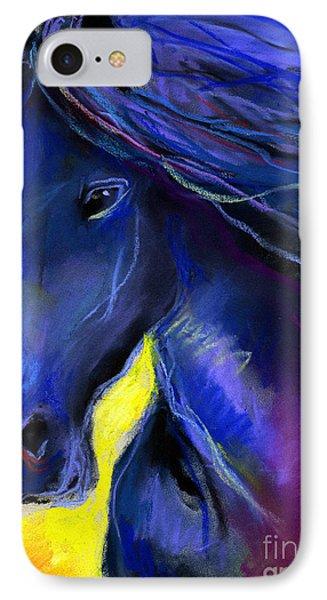Fantasy Friesian Horse Painting Print Phone Case by Svetlana Novikova