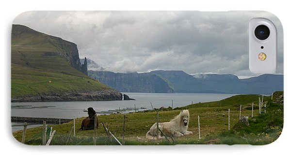 Faroe Islands Horses IPhone Case by Susanne Baumann