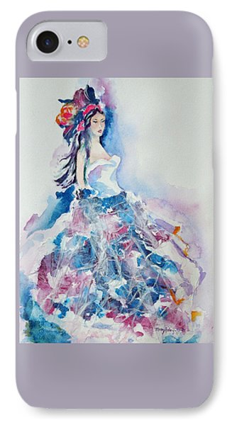 IPhone Case featuring the painting Fantasy Mist by Mary Haley-Rocks