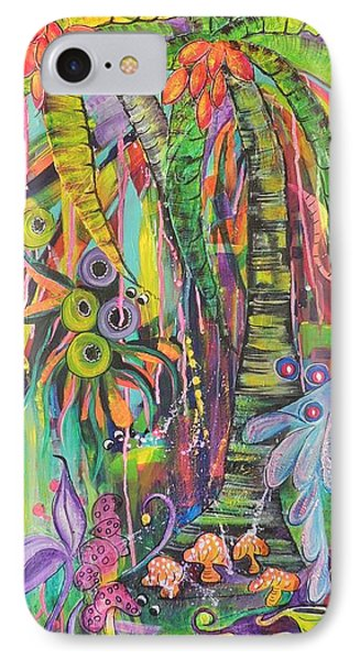 IPhone Case featuring the painting Fantasy Rainforest by Lyn Olsen