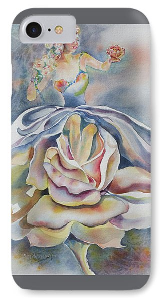IPhone Case featuring the painting Fantasy Rose by Mary Haley-Rocks