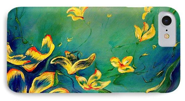 IPhone Case featuring the painting Fantasy World by Teresa Wegrzyn