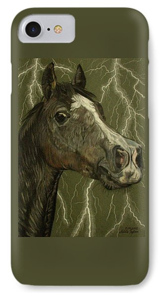 IPhone Case featuring the drawing Fantasy Xanthus by Melita Safran