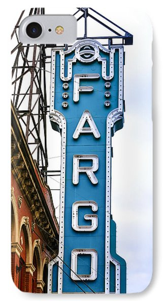 Fargo Blue Theater Sign IPhone Case by Chris Smith