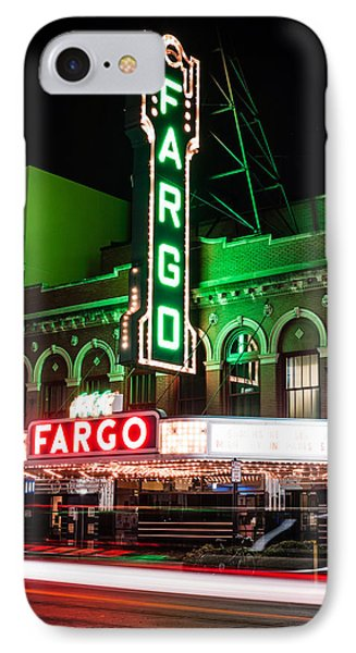 Fargo Nd Theatre At Night Picture IPhone Case by Paul Velgos