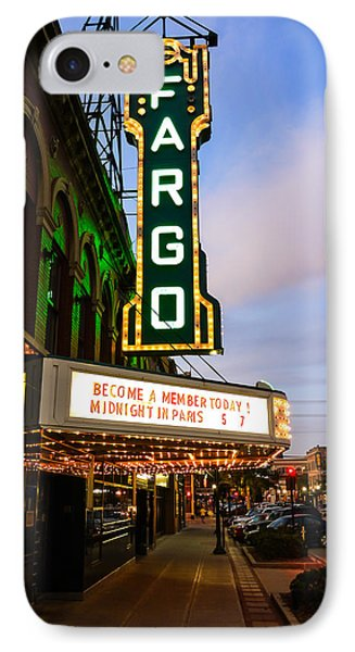 Fargo Theater And Downtown Along Broadway Drive Phone Case by Paul Velgos