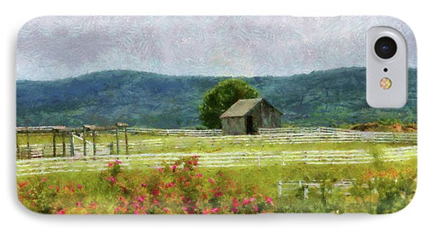 Farm - Barn - Out In The Country  Phone Case by Mike Savad