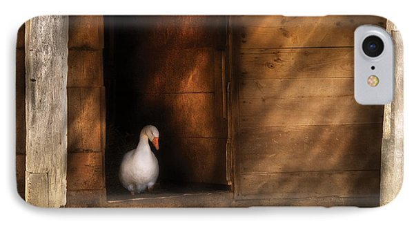 Farm - Duck - Welcome To My Home  IPhone Case by Mike Savad