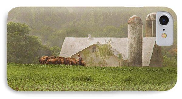 Farm - Farmer - Amish Farming Phone Case by Mike Savad