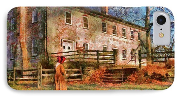 Farm - Farmer - There Was An Old Lady Phone Case by Mike Savad
