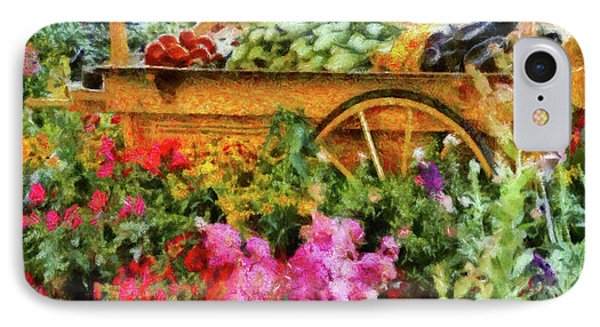 Farm - Food - At The Farmers Market Phone Case by Mike Savad