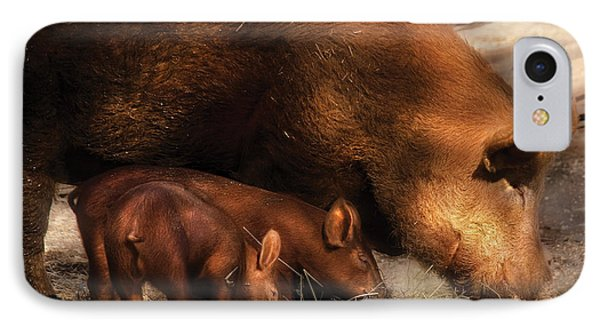 Farm - Pig - Family Bonds Phone Case by Mike Savad