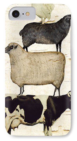 Cow iPhone 7 Case - Farm Animals Pileup by Mindy Sommers