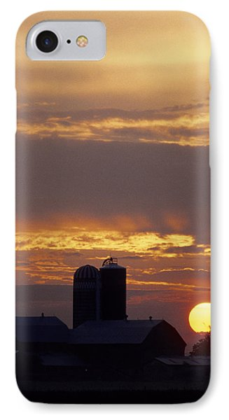 Farm At Sunset Phone Case by Steve Somerville