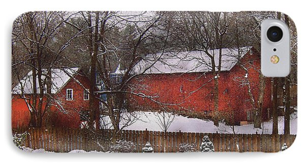 Farm - Barn - Winter In The Country  Phone Case by Mike Savad