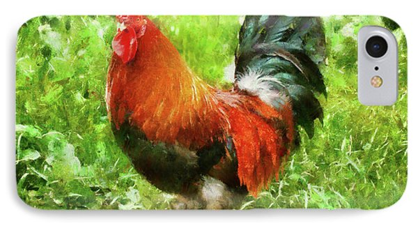 Farm - Chicken - The Rooster Phone Case by Mike Savad