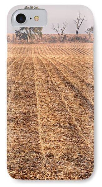 Farm Field Fog Phone Case by Steve Gadomski